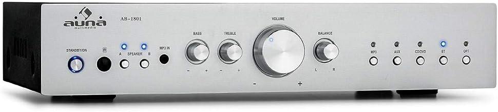 auna AV2-CD608BT HiFi-StereoVerstärker, Ausgangsleistung: 4 x 100 Watt RMS, Bluetooth,..