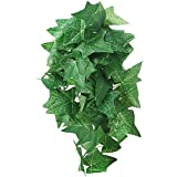 Viudecce Plantas de Reptiles Terrario Plantas de Seda Colgantes con Ventosa para Lagartos, Decoraciones para el HáBitat del Tanque de Geckos