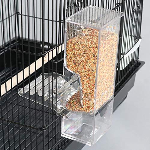 鳥 自動給餌器 鳥用フードフィーダー 餌やり 餌入れ 給餌機 食器 透明 アクリル材料 大容量 防水 固定 食べ殻の防止 無駄防ぐ エサの飛び散り防止 安心 出張 旅行 お留守番 小型動物 文鳥 鳥かご掛ける