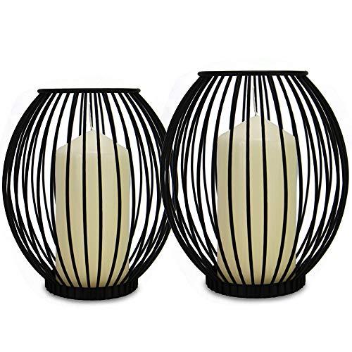 Candeleros de la jaula - Set de 2 | Linternas pequeñas y...