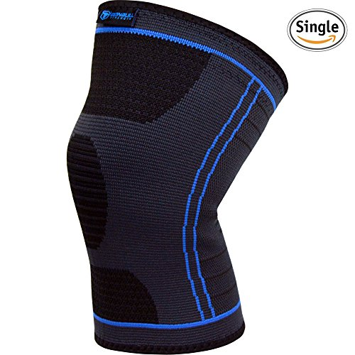 Ginocchiera tubolare (singolo)–Tutore per corsa, jogging, sport, dolori articolari, artrite–per migliorare la circolazione e la guarigione