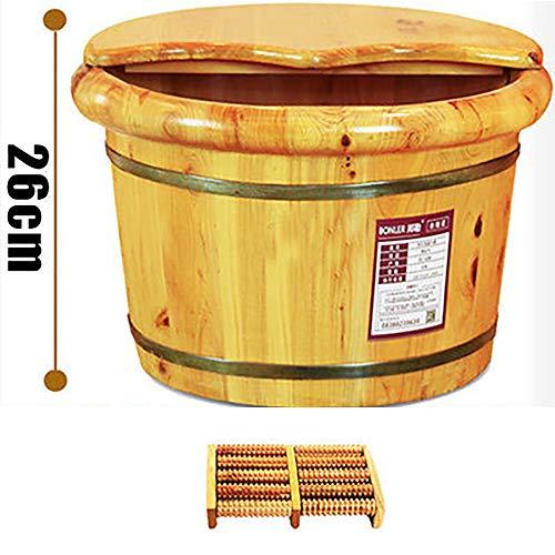 Ce bain en bois de cèdre en bois épaississant pied baril 26cm pied bain de pieds avec bain couvercle pied baril maison pour améliorer le sommeil, offrez un cadeau aux parents.SCBJB-D