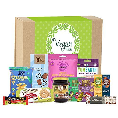 Vegan Gift Hamper Collection Birthday / Anniversary / Event / Bouquet / New Year / Christmas / Protein Chocolate ( iChoc + Biona Organic + Yum Earth + Rude Health Crips + Seed & Bean + Vivani )