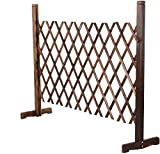 CellDeal Solid Wood Expanding Fence Mobile and Movable Fence Gardeners & Pet Owners Fold-able Design and Lightweight H:90cm x W:30-150 cm From Natural Wood