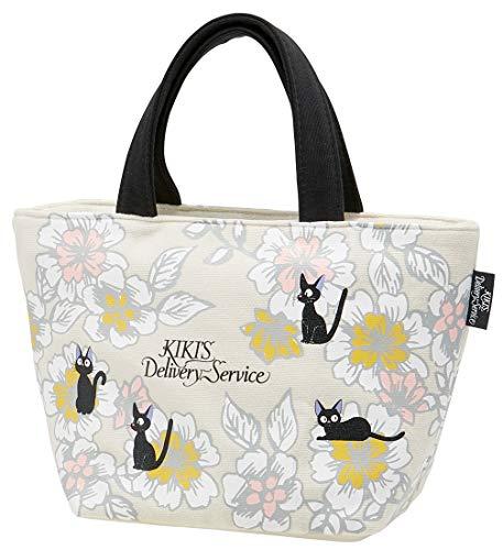Skater Soft Handbag Lunch Bag for Bento Box 300×180×125mm, Studio Ghibli Kiki's Delivery Service, Jiji Flowers, KNB1