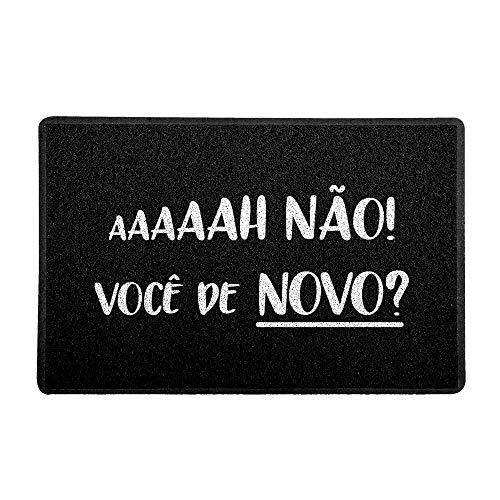 Capacho/Tapete - Haaa não Você de Novo!, Beek, Preto, 60 x 40 cm