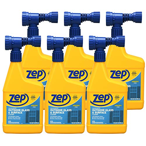 Zep Hose-End Outdoor Cleaner 32 oz. (Case of 6) Great for Outdoor Glass and Surfaces! (U49910)