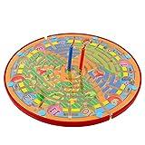 BIAOYU Brettspiel Hölzerne Ludo und Zahl Maze Magnetic Board Spiel Lernen Bildung Spielzeug...