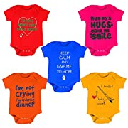 100% cotton Soft fabrics well suited for babies Attractive prints Press buttons available for comfort use Designs will be same as shown in the image.