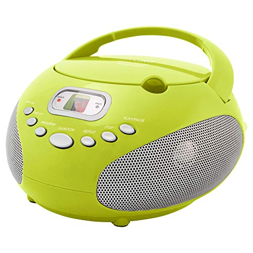 HANNLOMAX HX-319CD Portable CD Boombox, AM/FM Radio, LED Display, Aux-in Jack, AC/DC Dual Power Source