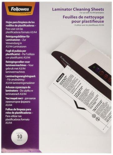 Fellowes A4 Reinigungsblätter für Laminiergeräte, auch als Carrier einsetzbar, 10 Stück