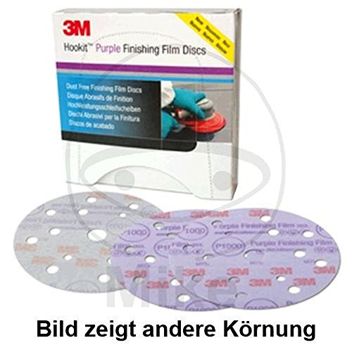 3M Hookit 260L+ Feinschleifscheibe, 15-Loch Klett 150 K1000 Purple lila 51157 40