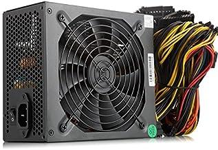 IBEST IMPETUS ATX Fuente de alimentación 1600 W Fuente de alimentación para Minería Servidor 1600 W Oro PSU Mining 140 mm Silent Fan con Máquina de Minería para 6 GPU Rig Ethereum Bitcoin Miner