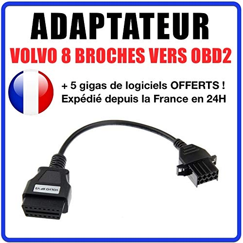 3 Pines etc. Cable Adaptador para Coche de 38 Pines a OBDII de 16 Pines Proscan Automotive OBD para W124 W202 S202