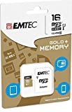 Kingston Technology - Tarjeta de memoria microSDHC (16 GB, clase 10, con adaptador EMTEC para Sony Xperia Z3 Compact SO-02G)