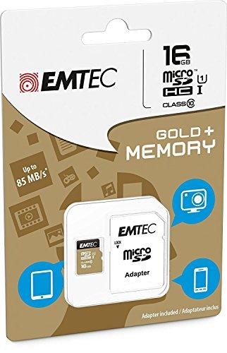 Tarjeta de memoria microSDHC de 16 GB clase 10 con adaptador EMTEC  para ZTE Nubia Z11 MiniS