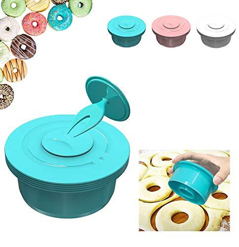 LNSOO Runder Keksschneidersatz, 6-teiliger Ausstecher, Teigpaste-Werkzeuge, Multi-Size-Teig-Teigmischer, Glatte Kanten, Formformen,Blau
