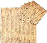 DHFDHD Alfombra puzle Tapetes de piso de madera blanda Puzzle Mat 60x60x2.0cm bebé niños de los niños Juego Juego de alfombras Ejercicio Gimnasio suelo Azulejos suave piso estera de la espuma Baldosas