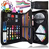 ARTIKA Sewing kit & Crochet kit, DIY Over 100 Premium Sewing and Crocheting Supplies, Free Extra Knitting Accessories - Travel Sewing kit, for Beginners, Emergency, Kids, Summer Campers and Home