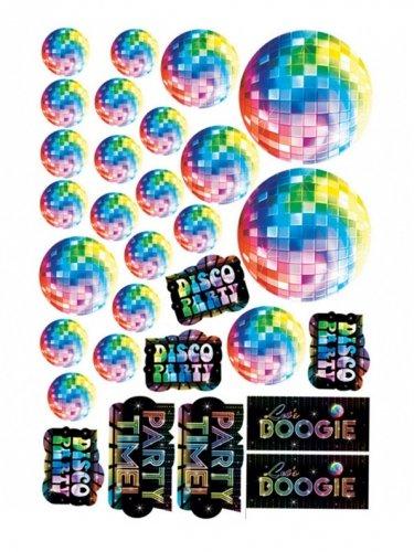 Generique - 30 Décorations cartonnées Disco