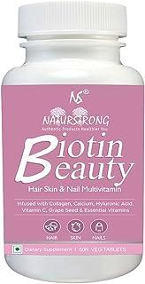 Naturstrong Biotin Beauty Multivitamin 100% RDA High Potency Biotin for Strong Nails Hair Growth Glowing Skin Beard Growth...