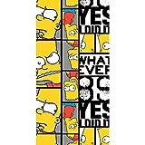 The Simpsons Bart Whatever Emotions Toalla de baño de playa