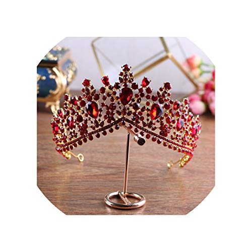 rainwater-shop crownTiaras de novia de lujo con diamantes de imitación y corona...