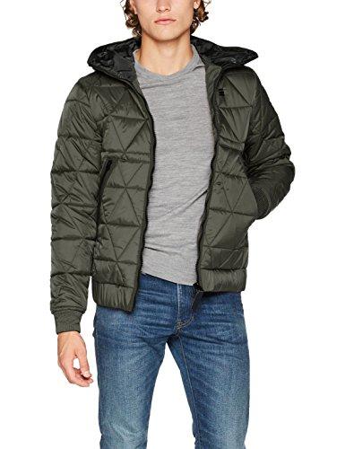G-STAR RAW Herren Strett Utility Qlt HDD JKT Jacke, Grau (Gs Grey 1260), Large
