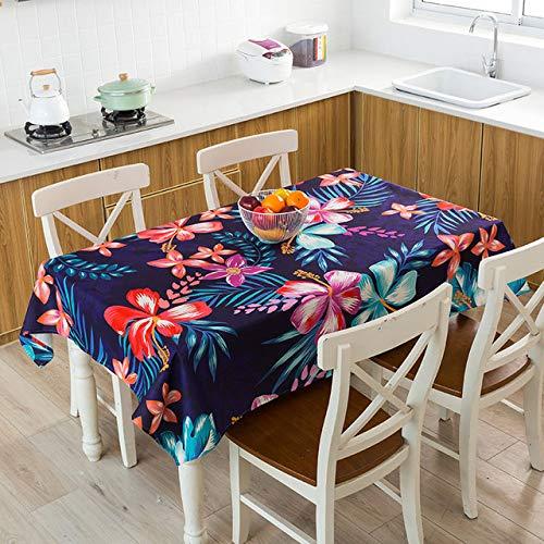 yueyue947 / Mantel Hoja de plátano Tropical Mantel Impermeable Mantel Nappe Mantel ración del hogar manteles Cubierta de Mesa/manteles / 4 140x200cm