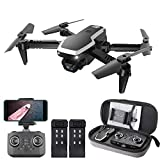 GoolRC CSJ S171 PRO RC Drone with Dual Camera, 4K HD WiFi FPV Mini Drone for Kids and Adults, Foldable RC Quadcopter with 3D Flip, Headless Mode, Altitude Hold, Storage Bag and 2 Batteries