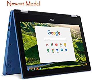 Acer R11 Convertible 2-in-1 Chromebook in Blue 11.6in HD Touchscreen Intel N3060 1.6Ghz up to 2.48GHz 4GB RAM 32GB SSD, We...