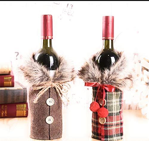 2pcs Christmas Sweater Wine Bottle Cover