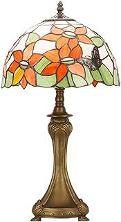 YJFFAN Tischlampe, Glas Glas Glas LED Retro-Augenschutz-Licht Geeignet Für Schlafzimmer Nachttisch Lesen Und Lernen E27 Schraube Lampe Kopf (Glühbirnen Nicht Enthalten),Farbeful B07GLM38V4  Geeignet für Farbe 6e0182