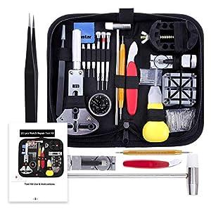 Vastar Watch Repair Kit, Watch Repair Tools Professional Spring Bar Tool Set, Watch Band Link Pin Tool Set with Carrying Case