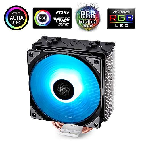 Deepcool Gammaxx GTE Black RGB Dissipatore per CPU 4 Heatpipes Ventola PWM da 120 mm RGB 12V 4-Pin Compatibile per Intel e AMD AM4