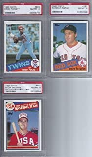 1985 Topps Baseball Complete 792 Card Set with Psa 8 Graded Rookies Roger Clemens, Mark Mcguire , Kirby Puckett
