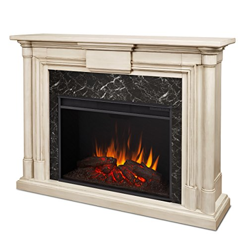 Grand Electric Fireplace, Large, Whitewash