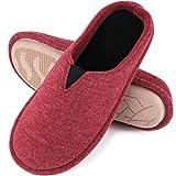 EverFoams Damen Memory Foam Hausschuhe, Pantoffeln mit Jersey Oberfläche, Winerot, 38/39 EU