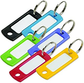 Lucky Line 16929 Colored Key Tag with Ring (12 Pack), Assorted