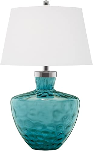 wholesale Pacific Coast Lighting Aqua Cascade Dimpled Glass Table Lamp wholesale in lowest Turquoise online sale