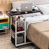XXLYY Mesita de Noche Mesa para portátil Mesa Perezosa Mesa de Cama Mesa pequeña en el Dormitorio Estudiante de elevación móvil Simple (Color: A)