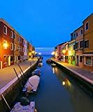 Burano Canal Reflections At Dusk (08x10) Art Photography Print by Unknown (0100-01-01)