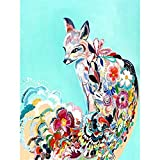 Pintura al óleo por números Animales Flor sobre lienzo Pinturas de dibujo pintadas a mano para adultos Colorear por número Decoración A2 40x50cm