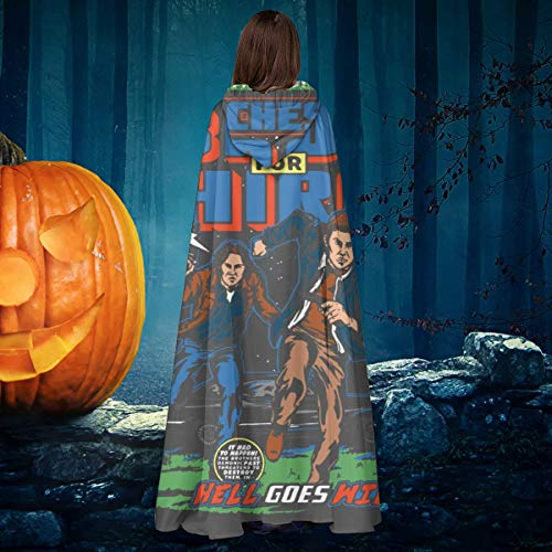 AISFGBJ - Disfraz de Winchester Bros Hire Supernatural Classic Comic, Unisex, para Halloween, Bruja, Caballero, con Capucha, Capa de Vampiros, Capa de Disfraces de Cosplay