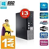 Dell Mini PC 790Ultra USFF Core i3–210016GB 960go SSD WiFi W7