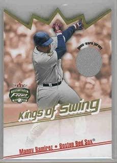 2002 Fleer Focus JE Kings of Swing Game Used #7 Manny Ramirez Jersey - Boston Red Sox