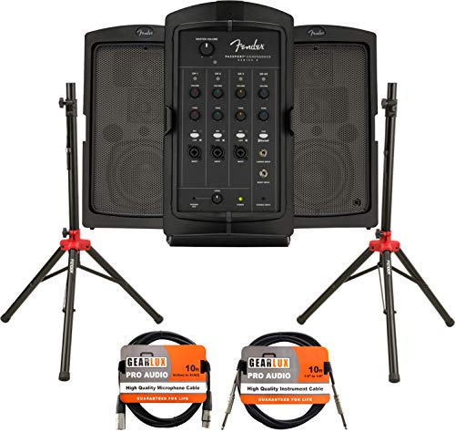Fender Passport Conference S2 Portable PA System Bundle with...