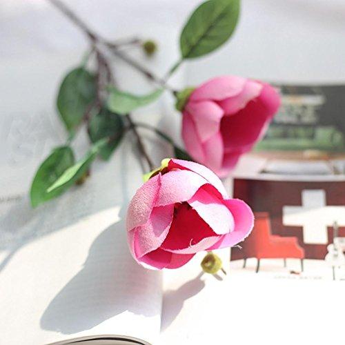 Kunstbloemen,1 Boeket Kunstmatige Zijde Nep Bloemen Magnolia Bloem Bruiloft Bloemen Arrangement voor Home Decor Tuinplant Feestje Centerpieces Decoratie