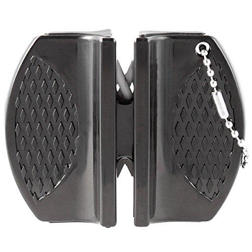 OramicsMicro Messerschärfer Mini für Outdoor, Jäger und unterwegs Schärfwerkzeug Messerschleifer