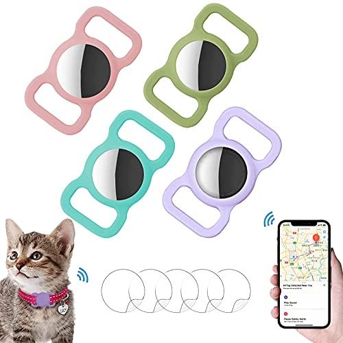 Ambolio Custodia Protettiva in Silicone per Animali Domestici,Airtag GPS Finder Dog Cat Collar...
